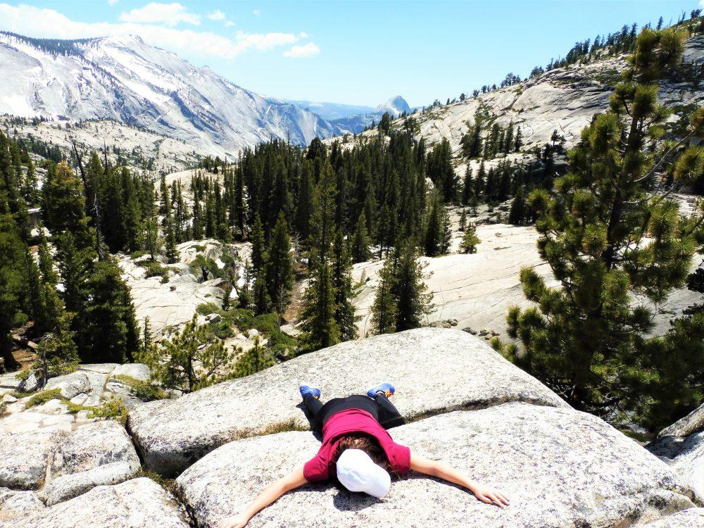Girl hiking in Yosemite National Park