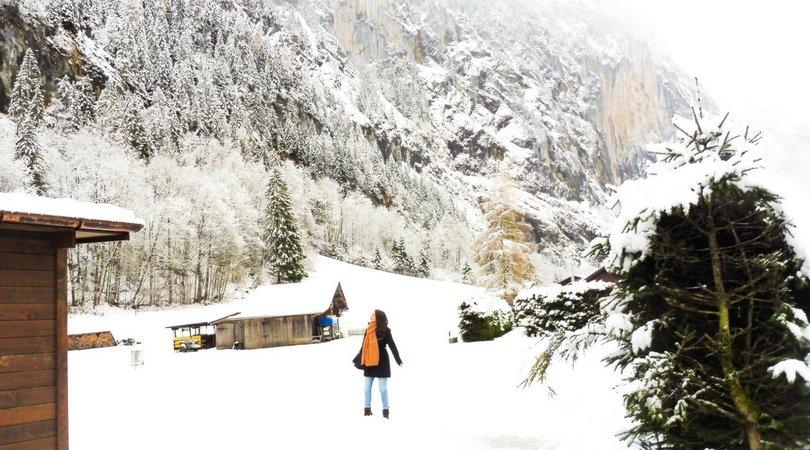 girl lauterbrunnen switzerland topdeck solo travel