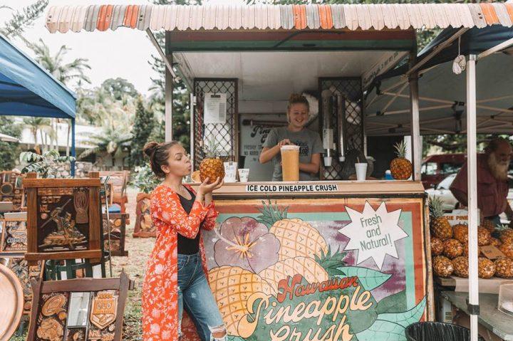 pineapple juicee at Daintree Port Douglas Markets