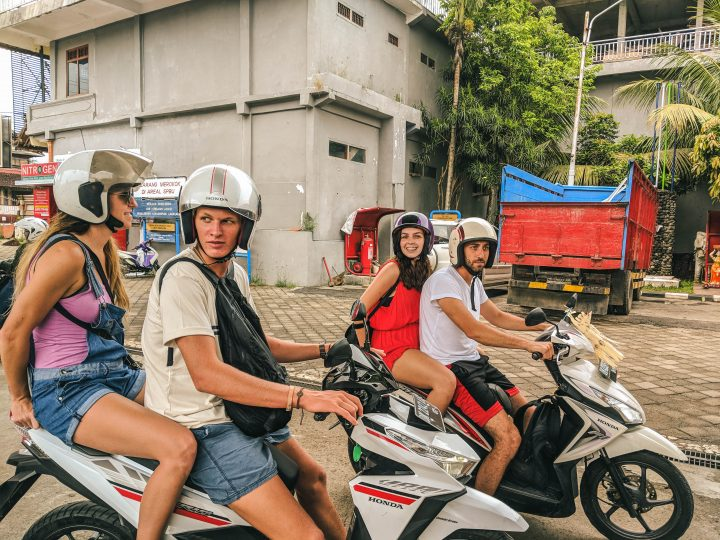 Find Your Pack Digital Nomad Retreat crew hire Scooters in Ubud Bali