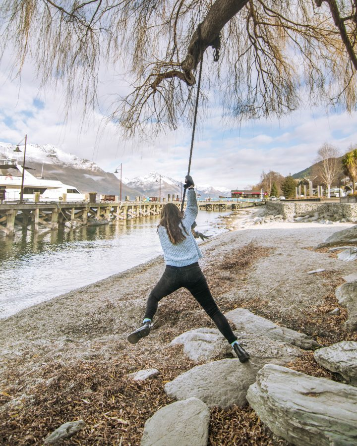 Queenstown Swing by the Lake in Winter