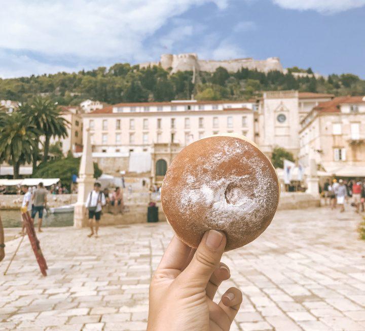 Hvar donut from best bakery in Hvar
