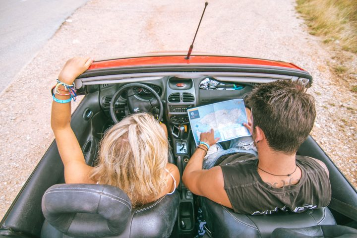 Couple in Convertible Vis Croatia