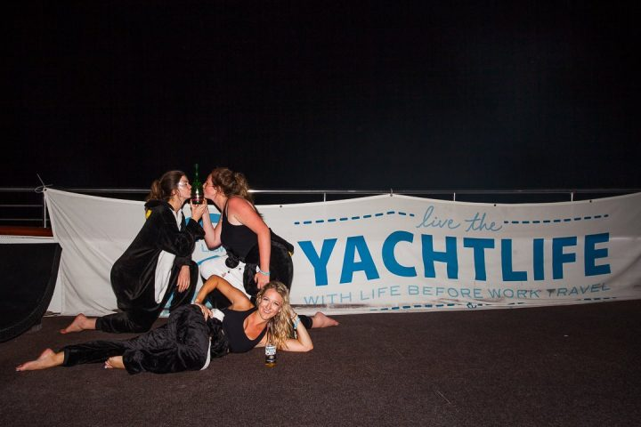 Yachtlife Croatia penguin onesie party