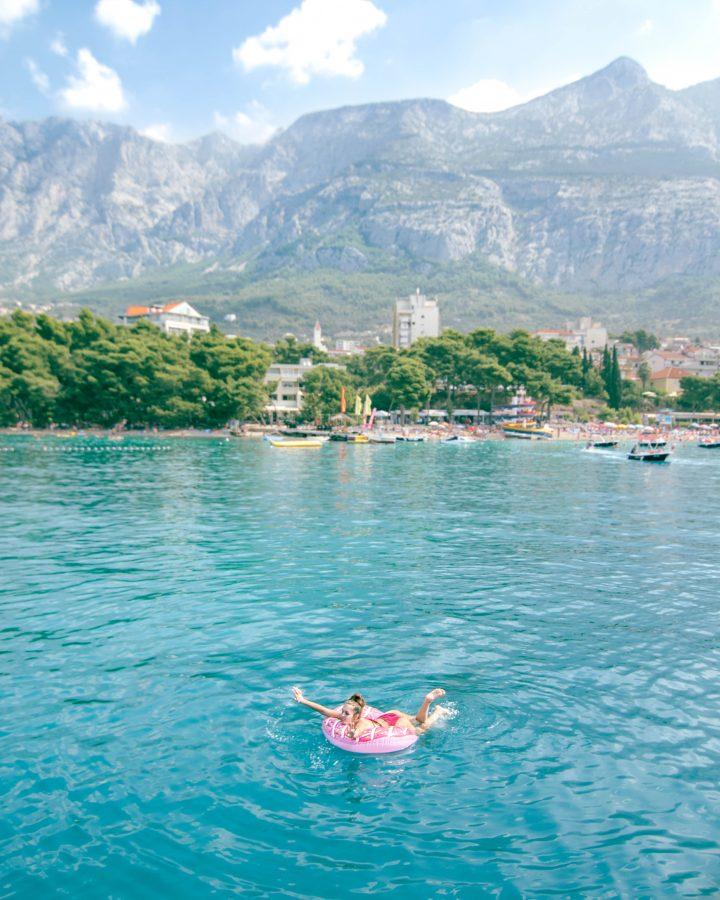 Donut float in croatia with yachtlife Croatia Life Before Work