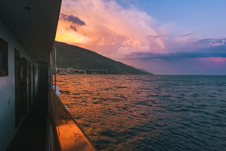 Yachtlife Croatia Life Before Work sunset from the deck