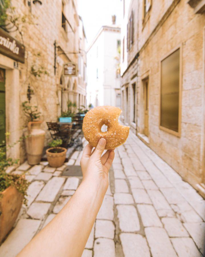 Donut in Vis Croatia best bakery in Vis