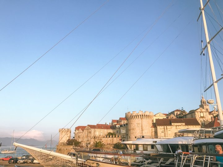 Korcula city from Yacht with Life Before WOrk