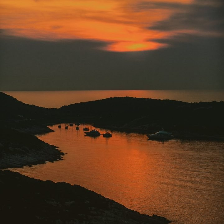Vis sunset from castle
