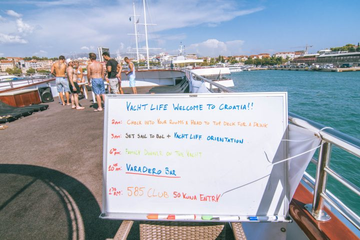 Yachtlife Croatia with Life Before Work first day itinerary