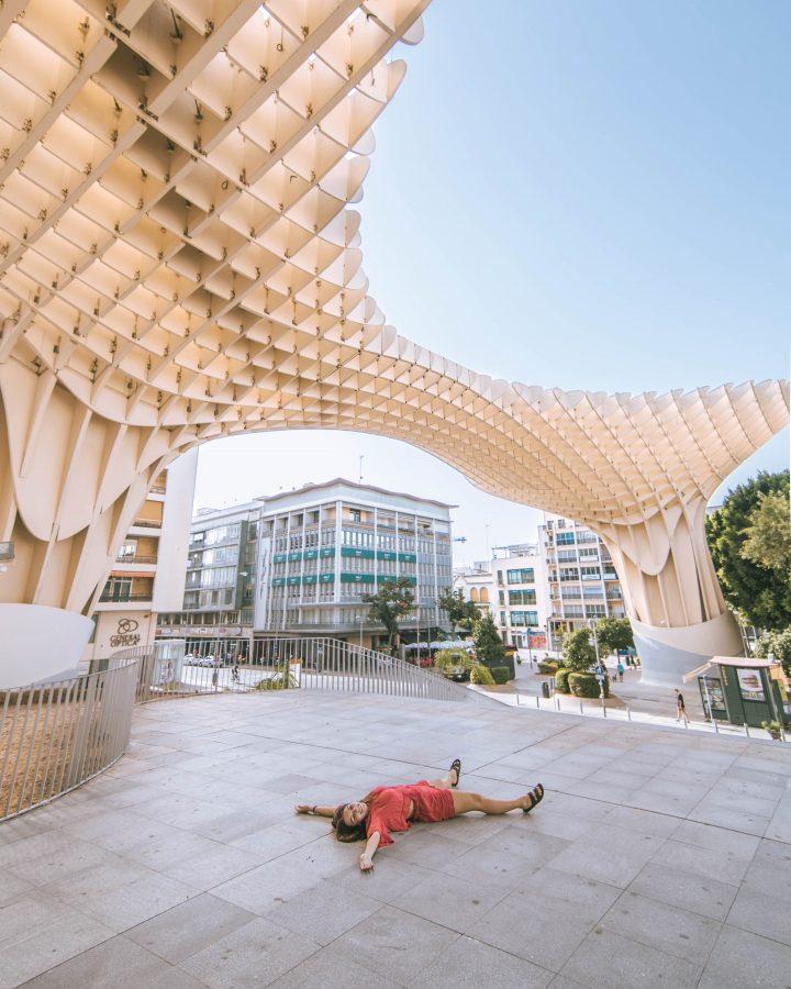 Busabout Iberian Adventure Tourradar Seville Seville Spain lost in the streets Metropol Mushroom