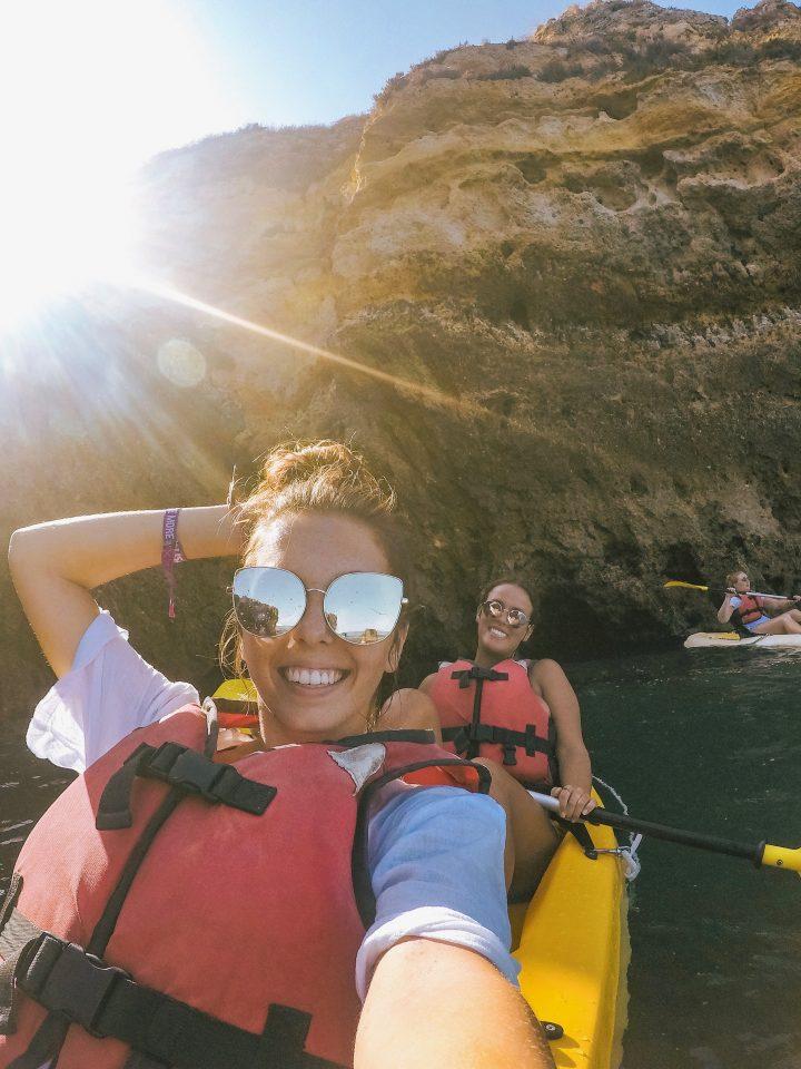 Iberian Adventure Portugal Lagos Sea Kayaking through caves