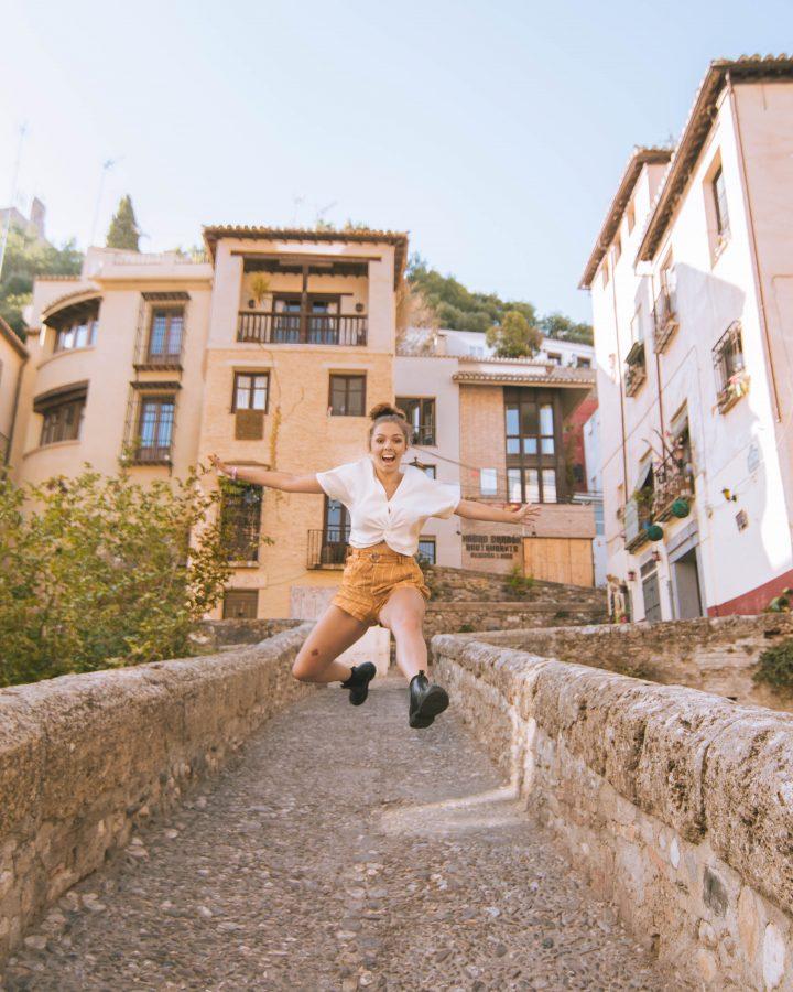 Iberian Adventure Busabout Granada jump