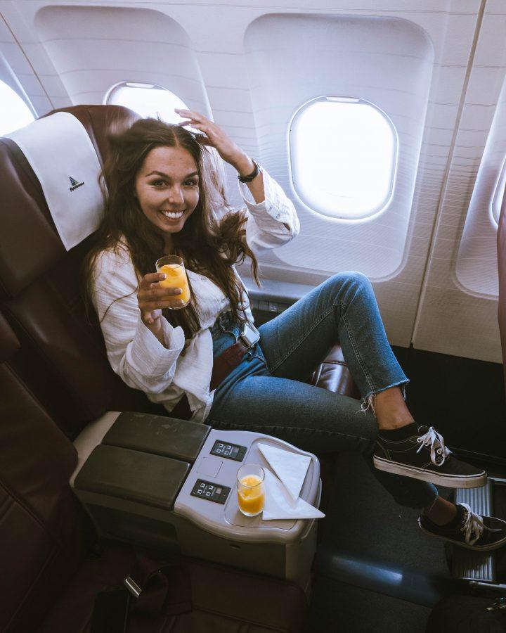 Solomon Island Solomon Airlines business class upgrade Brisbane to Honiara
