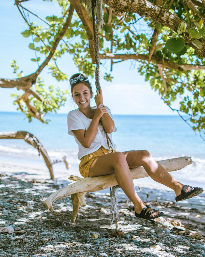 Solomon Islands Honiara Shipwreck beach swing with Visit Solomon Islands
