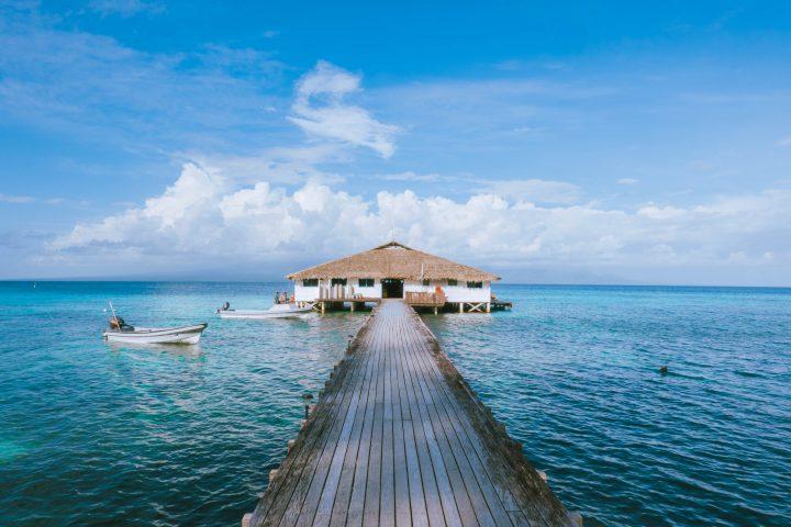 Fatboys Island resort Gizo Solomon Islands floating restaurant