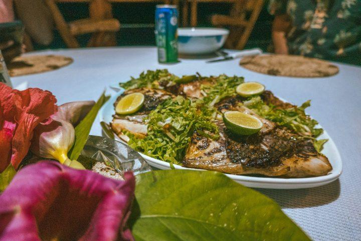 Fat Boys Island resort fishing fresh seafood dinner Solomon Islands