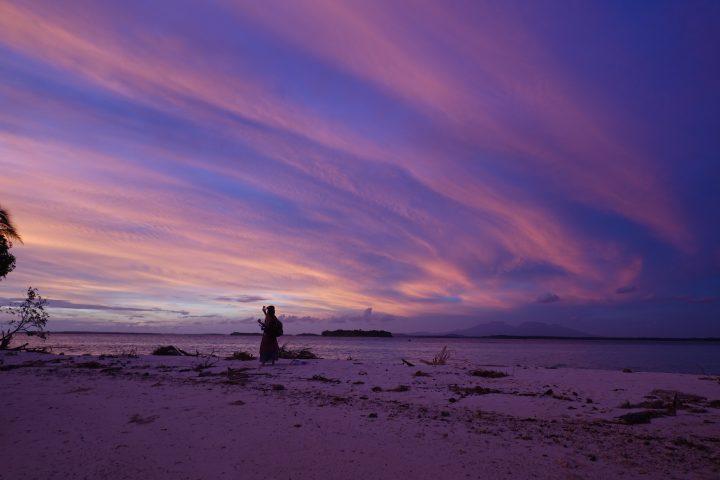 UNedited Solomon Islands sunset Munda