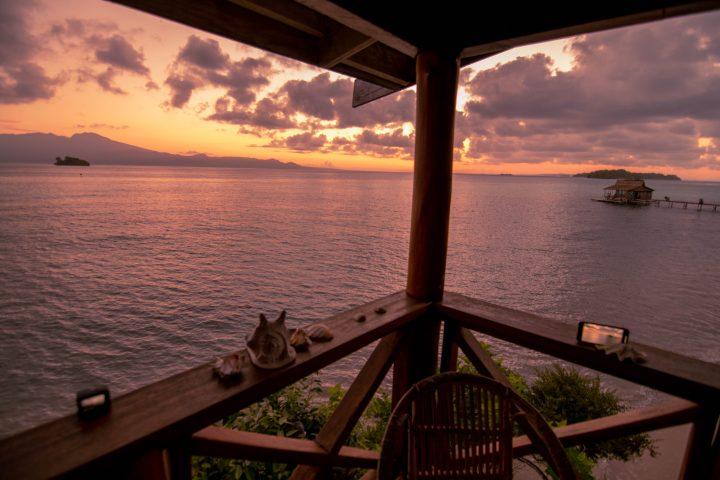 Fatboys Island resort bungalow sunrise Solomon Islands Gizo