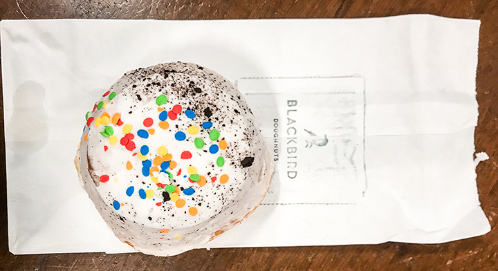Blackbird Doughnuts Icecream Cake Bismarck